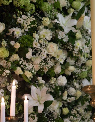 Décoration mur floral Semaine sainte, Nîmes sainte Eugénie