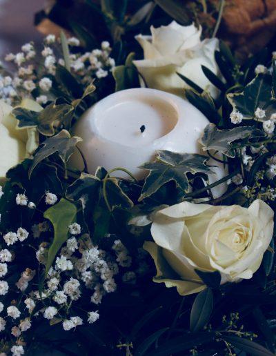 Mariage, décoration bougie