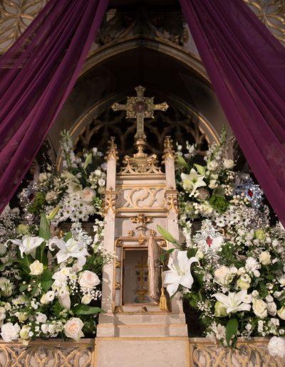 Décoration église semaine sainte, Nîmes