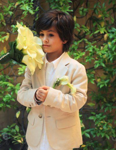 Mariage, bouquet de mariée et boutonnière
